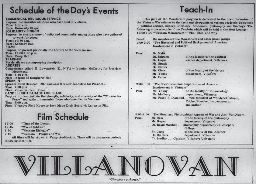 vietnam moratorium events Oct 15 1969