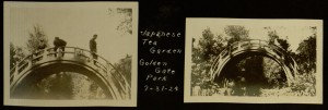 Japanese Tea Garden Bridge (San Francisco, CA), 1924