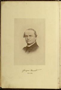 """Plate 1, """"Gregor Mendel"""", from Mendelizm ili teoriia skreshchevaniia.  Moscow : Knigoizdatel'stvo studentov Moskovskago sel'skokhoziaistvennago instituta, 1914."""