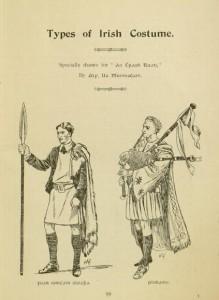 "p. 99, ""Types of Irish Costume"", from An Ċraoḃ-ruaḋ"