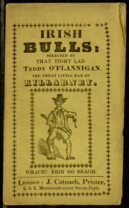 Front cover, Irish bulls / selected by that TIght Lad Teddy O'Flannigan