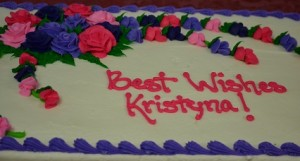 Kristyna Carroll's cake