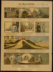 """Pictorial broadside, """"Der Weg des Geldes,"""" [1917?]"""