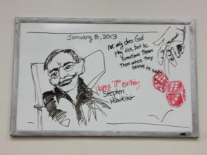 "Daily Doodle, ""Stephen Hawking 71st birthday"", January 8, 2013"