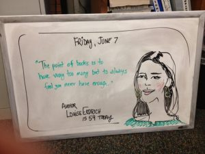 "Doodle, June 7, 2013, ""Louise Erdrich"" birthday"