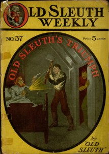 "Front cover, Old Sleuth's triumph; or, The great Bronx mystery / by ""Old Sleuth"""