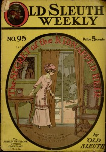 Front cover, The secret of the kidnapped heir : a strange detective narrative / by Old Sleuth