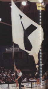 V flag, villanova, basketball, 1996, 1996 yearbook