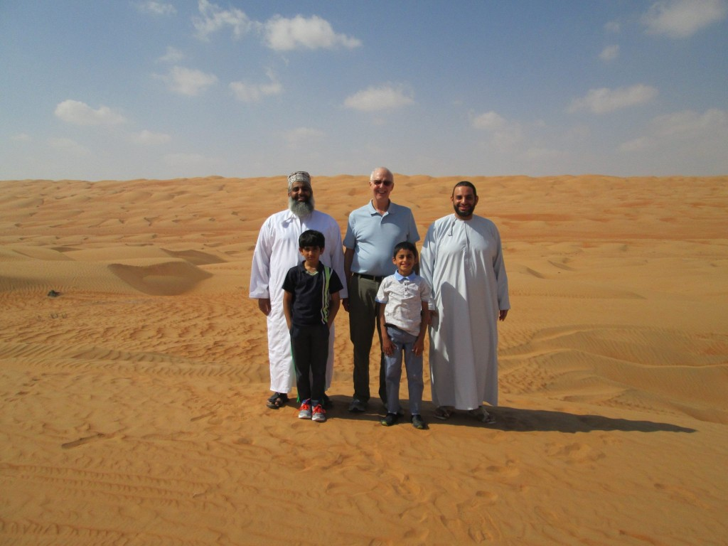 Oman desert group photo