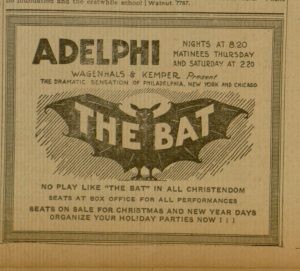 """The Bat"", selection p. 7, The Catholic Standard and Times, v. 27, no. 6, Saturday, December 17, 1921"