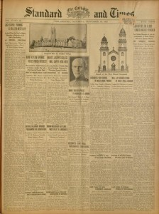 [1] p., The Catholic Standard and Times, v. 27, no. 45, Saturday, September 16, 1922