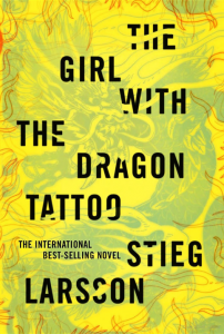 Book cover for novel The Girl with the Dragon Tattoo
