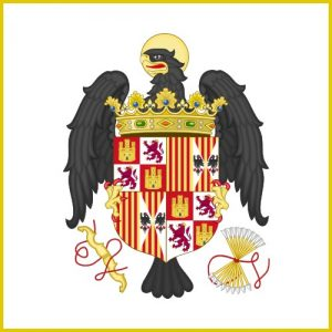 15th century imperial standard of the Catholic Spanish monarchy