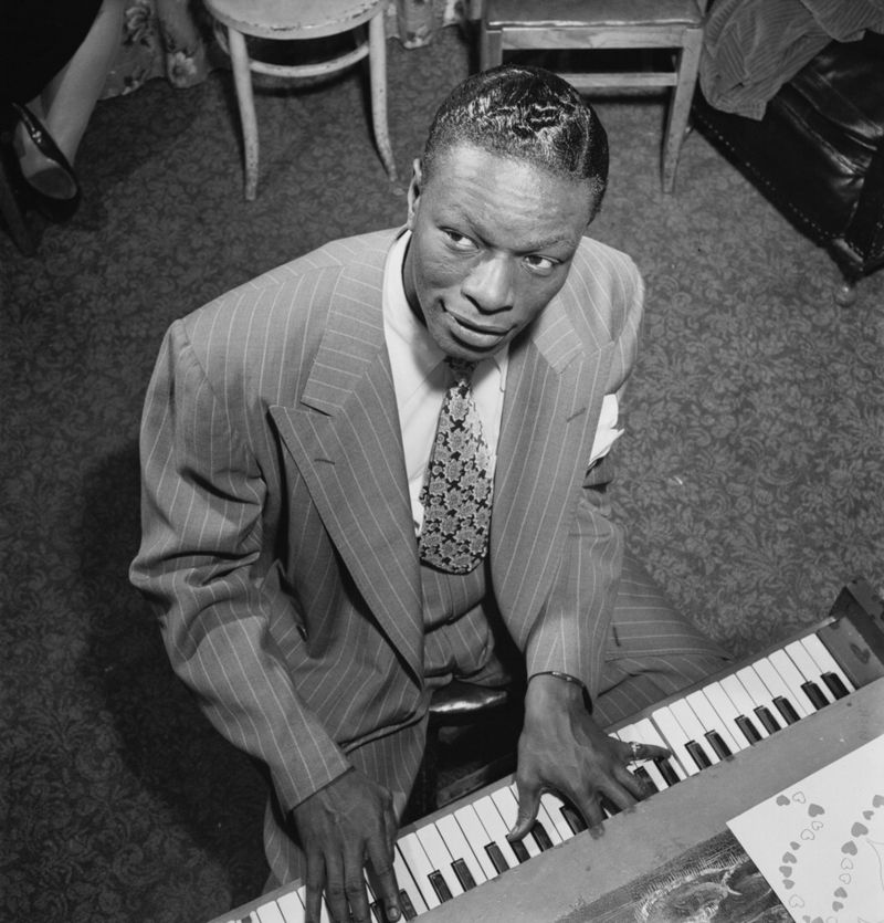 nat king cole at a piano