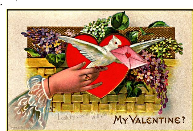 A vintage Valentine
