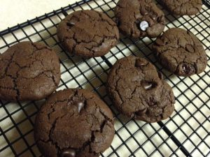 vegan choc cookie cooling