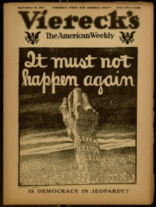 Front cover, Viereck's the American weekly, v. VII no. 7, September 19, 1917