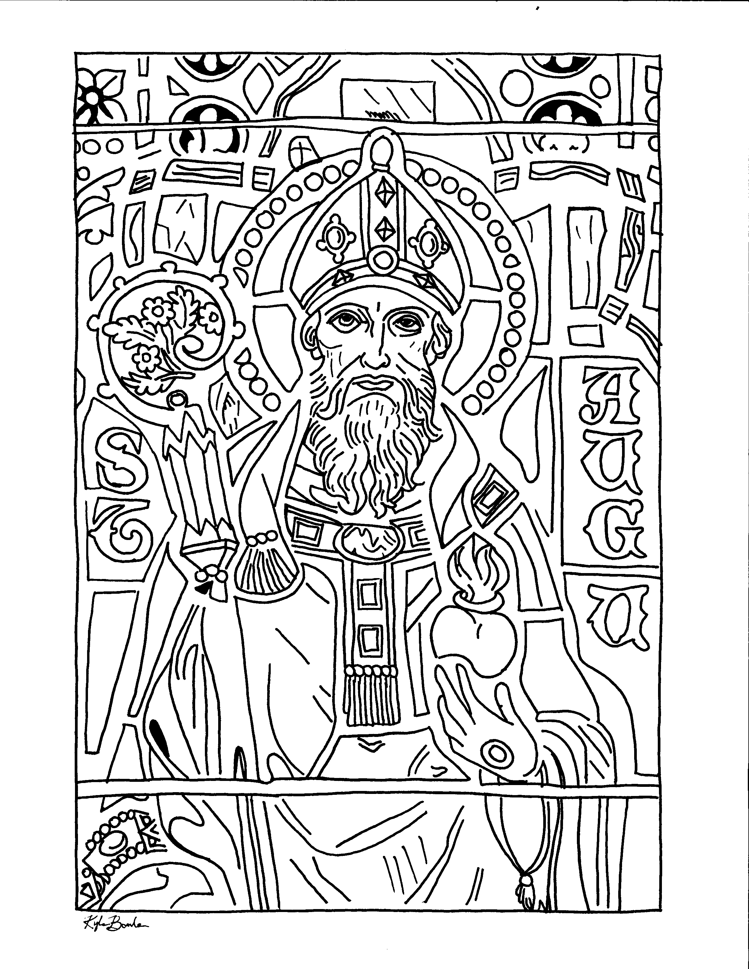 coloring page of st. augustine