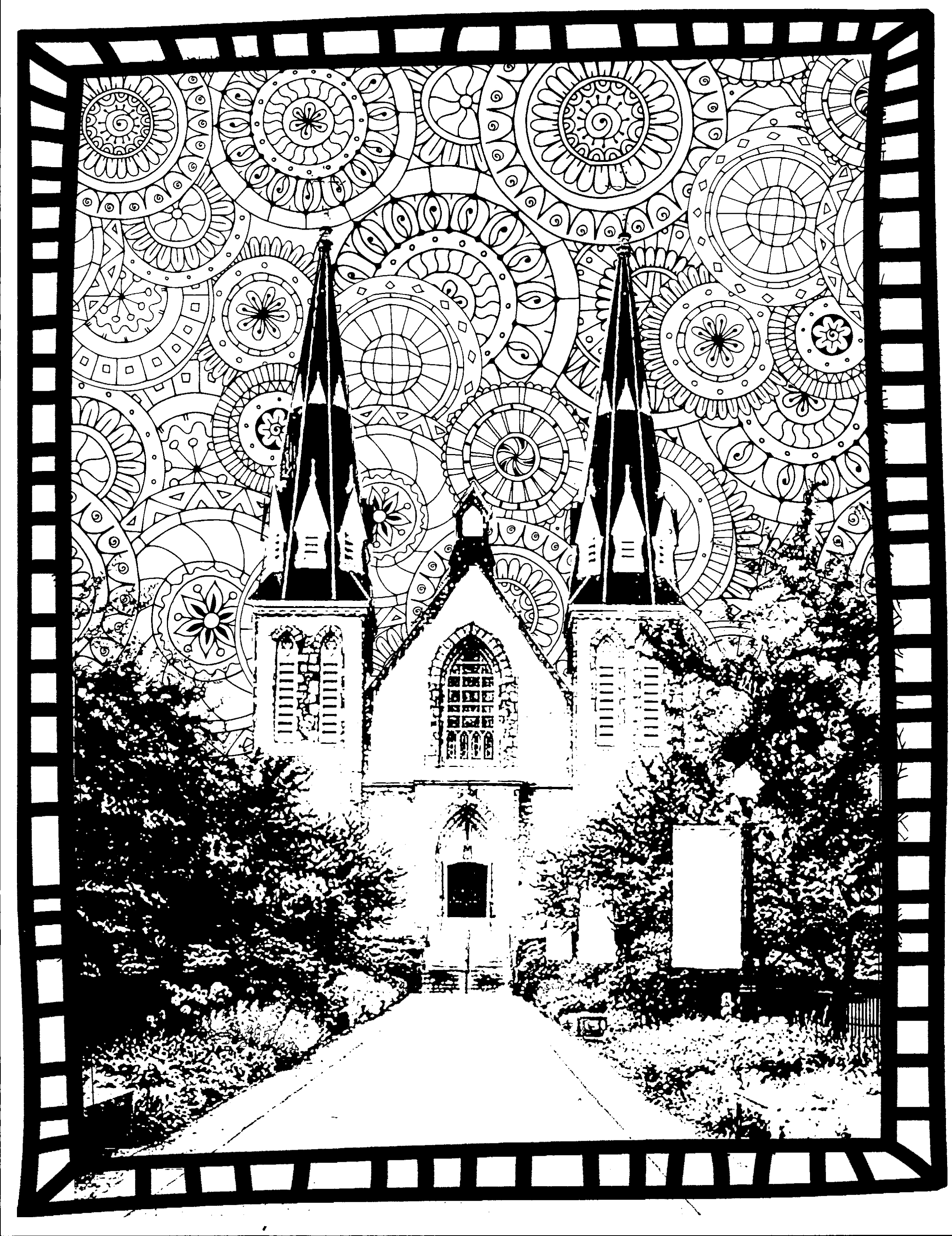 st thomas church coloring page