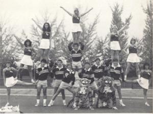 1985 Belle Air, yearbook, villanova, cheerleaders