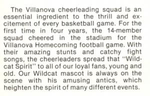 cheerleading, 1985 yearbook, villanova