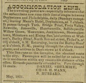 """Accommodation Line"", [4] p., Olive Branch, v. X, no. 484 [sic 483], October 14, 1851"