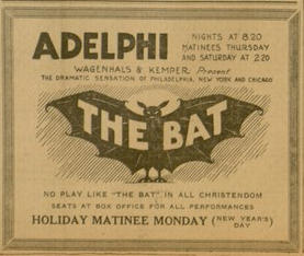 """The Bat"", p. 8, The Catholic Standard and Times, v. 27, no. 8, Saturday, December 31, 1921"