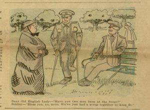 Comic illustration, p. 11, Chicago Ledger, v. XLIV, no. 29, July 15, 1916