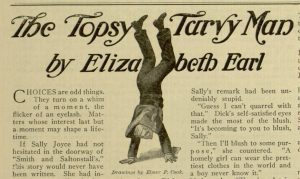 "Selection p. [321] - ""The Topsy Turvy Man"", The Wellspring for young people, v. LXXI, no. 41, October 10, 1914"
