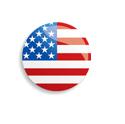 usa flag button