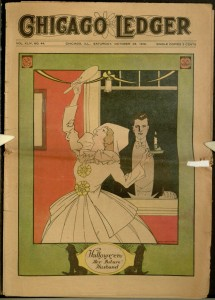 "Front cover, ""Halloween"", Chicago Ledger, v. XLIV, no. 44, October 28, 1916"