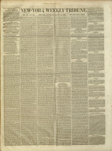 Front cover, New-York Weekly Tribune, v. XI, no. 572, August 28, 1852