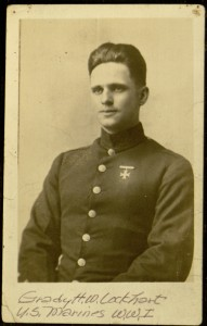 Grady H. W. Lockhart, U.S. Marines WWI, photo 1, recto