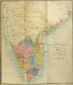 Map, The Madras New Almanac : general directory and register for 1838