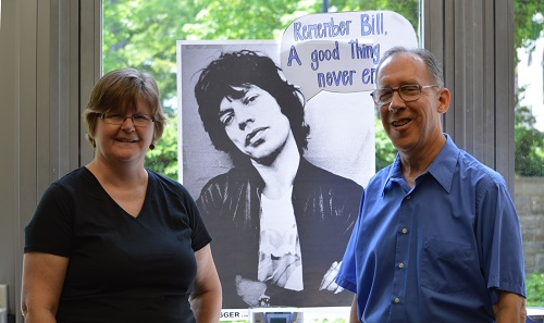 Luisa Cywinski and Bill Greene with Mick Jagger