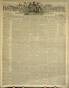 [1] p., National Defender, v. I, no. 22, Tuesday, January 6, 1857