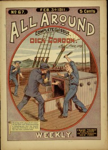 Front cover, Dick Gordon; or, The true Yankee sailor boy / by L. Philips