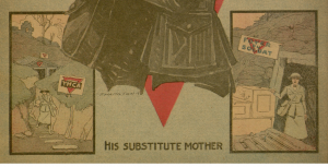 "Front cover, selection,  ""His Substitute Mother"", Chicago Ledger, v. XLVI, no. 45, Saturday, November 9, 1918"