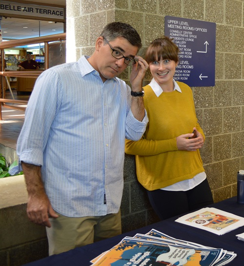 Rob LeBlanc and Sarah Wingo with Library Information