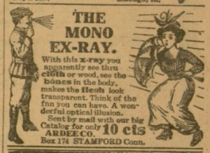"Selection, p. 19 ""The Mono Ex-Ray"", Chicago Ledger, v. XLV, no. 13, March 31, 1917"