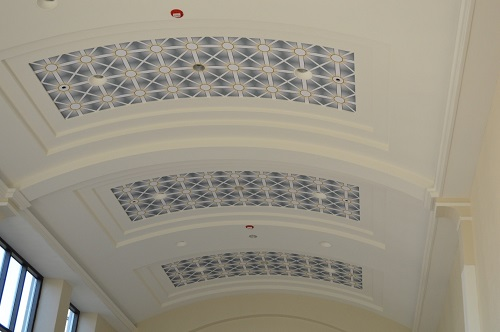 The new ceiling.