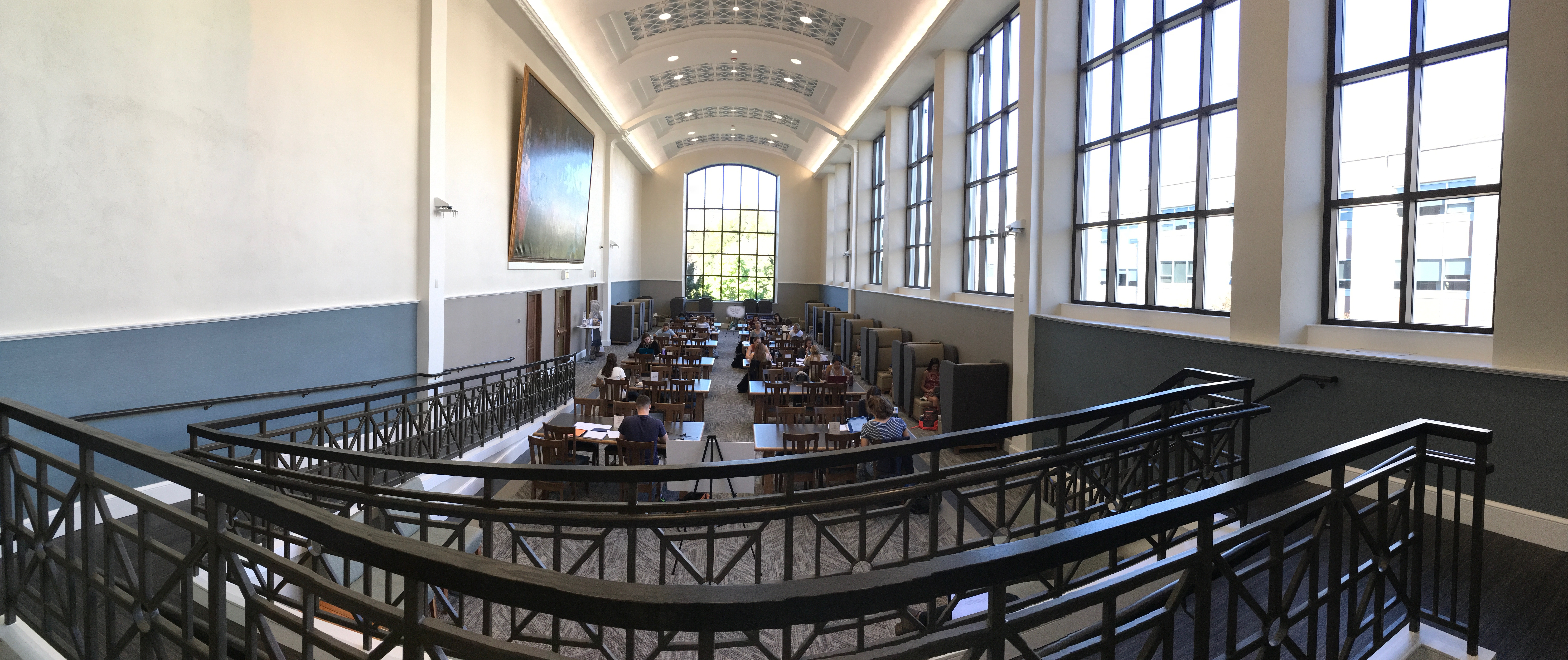 A Panoramic View of the Dugan Polk Family Reading Room