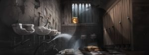 """Locked In"" an illustration from Rowling's and Warner Brothers' Pottermore."