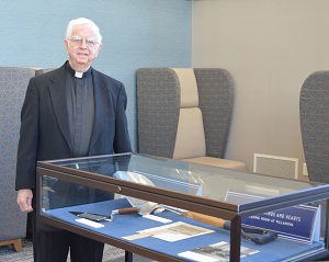 Father Gallagher visits the exhibit