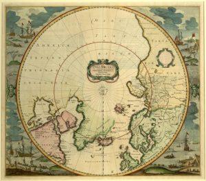 Poli Arctici Et Circumiacentium Terrarum Descriptio Novissima / Sumptibus Henrici Hondÿ