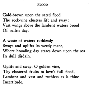 after the flood poem