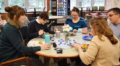 Librarian Sarah Wingo; Kallie Stahl, Librarians Robin Bowles, Rob LeBlanc and Laura Bang