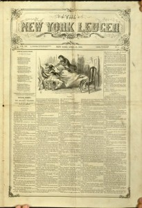 Front cover, The New York Ledger, v. XIV, no. 5, April 10, 1858