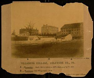 Villanova College (Monastery, Academy, Barns), (Views from Lancaster Avenue), 1856