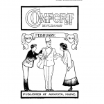 Coloring page of the cover of Comfort magazine, February 1904.